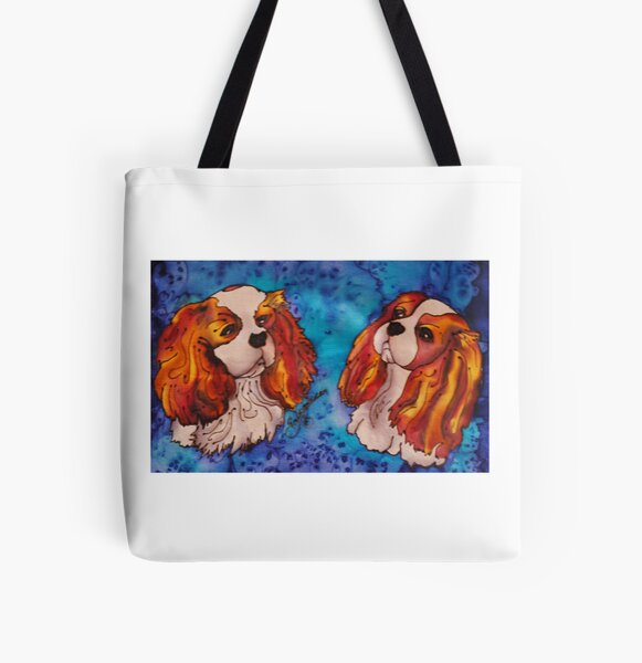Cavalier King Charles Spaniels All Over Print Tote Bag