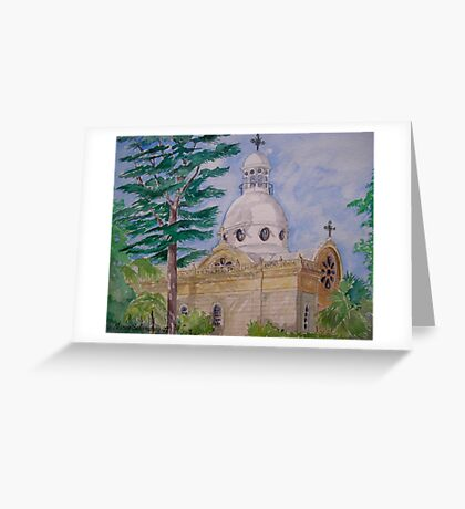 Bechara Church, Achrafieh Beirut Lebanon Greeting Card