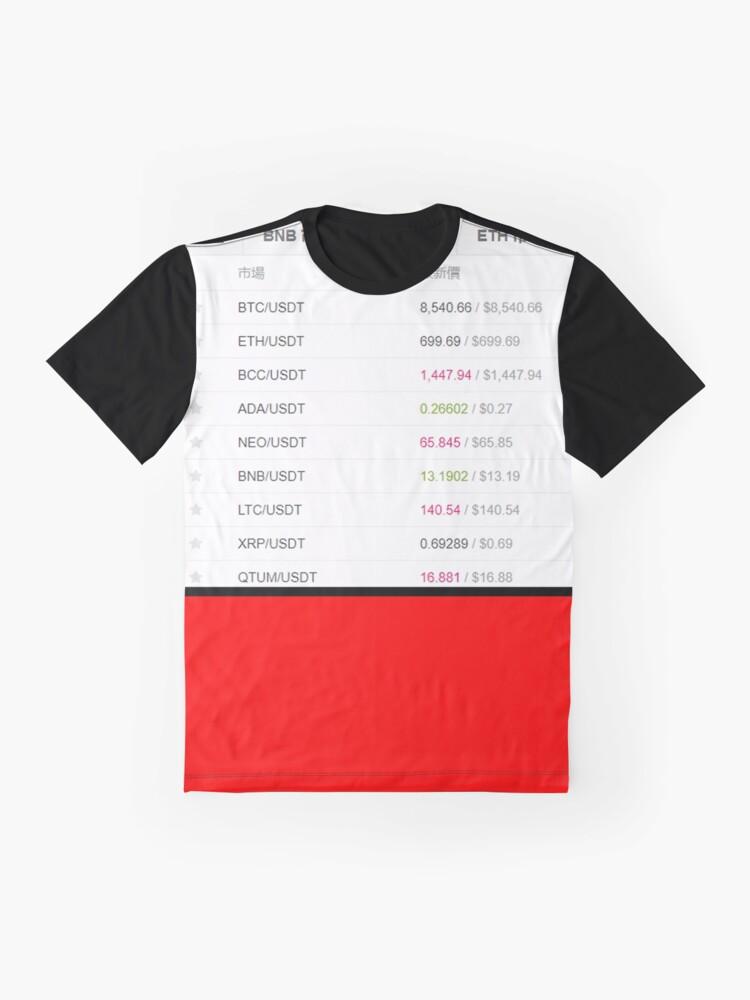 Alternate view of CRYPTO MONEY CALENDAR Graphic T-Shirt