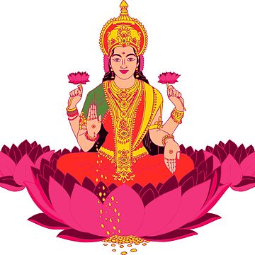 Happy Diwali Hot Pink Hindu Poster Black Pillow Ganesh by tanabe