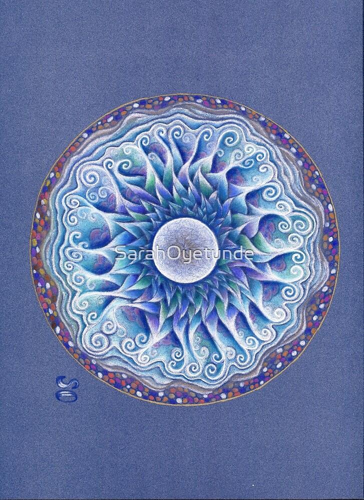 Moon Centred Mandala by SarahOyetunde