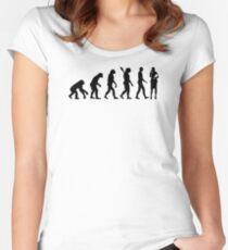 Evolution secretary Women's Fitted Scoop T-Shirt