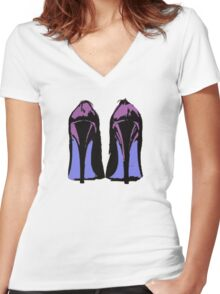 Heels! Women's Fitted V-Neck T-Shirt