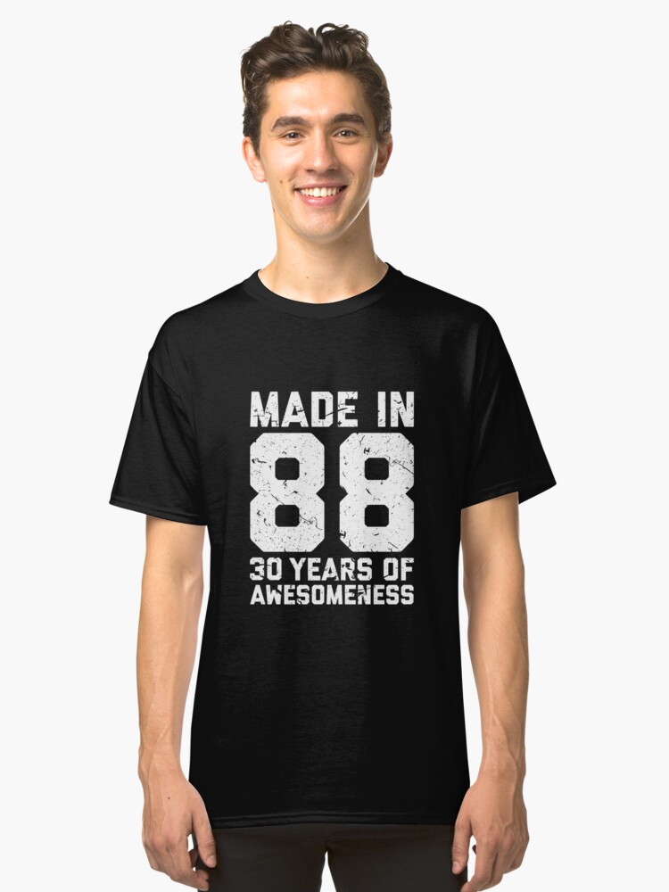 30th Birthday Gift Adult Age 30 Year Old Men Women T Shirt By Mattlok