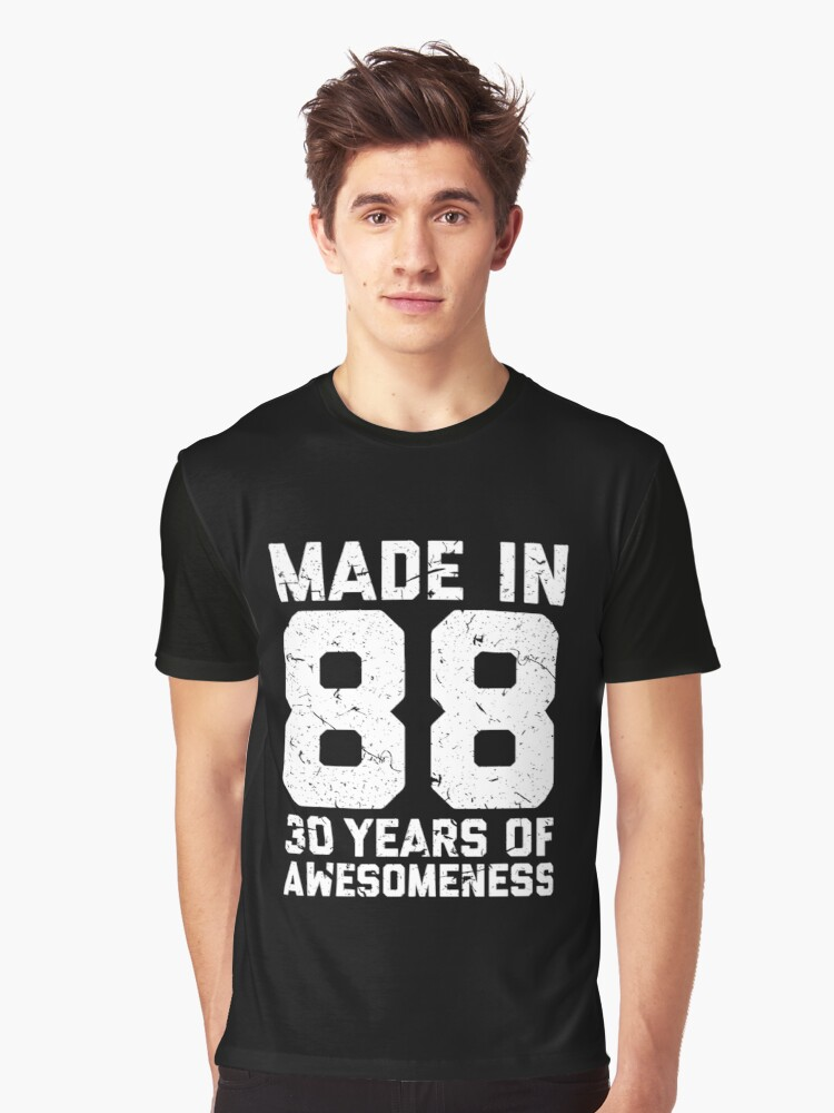 30th Birthday Gift Adult Age 30 Year Old Men Women Graphic T Shirt By Mattlok