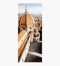 """Luce di Firenze"" the Duomo Watercolor Fotodruck"