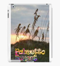 Palmetto sunset seagrass iPad Case/Skin
