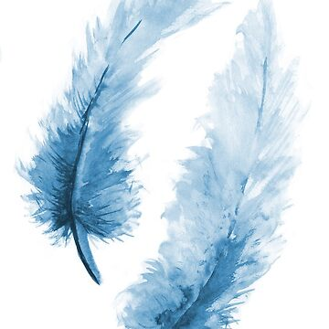 Blue feathers by MaijaR