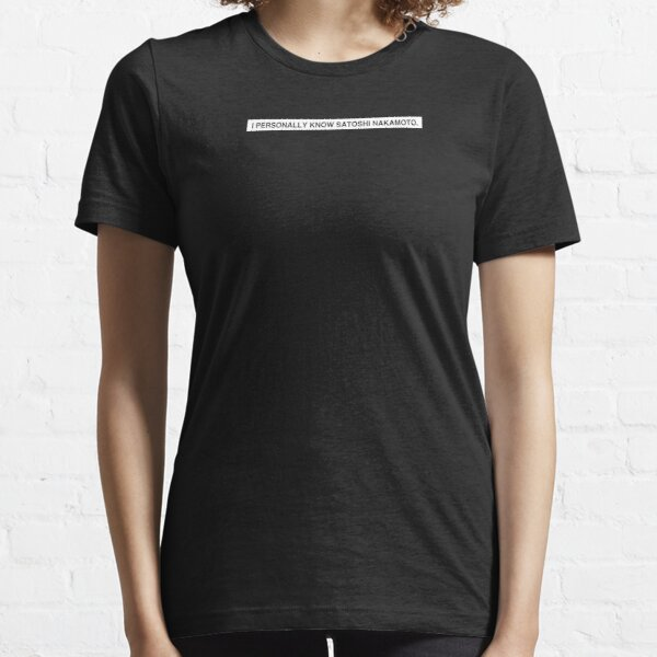 SATOSHI NAKAMOTO Essential T-Shirt
