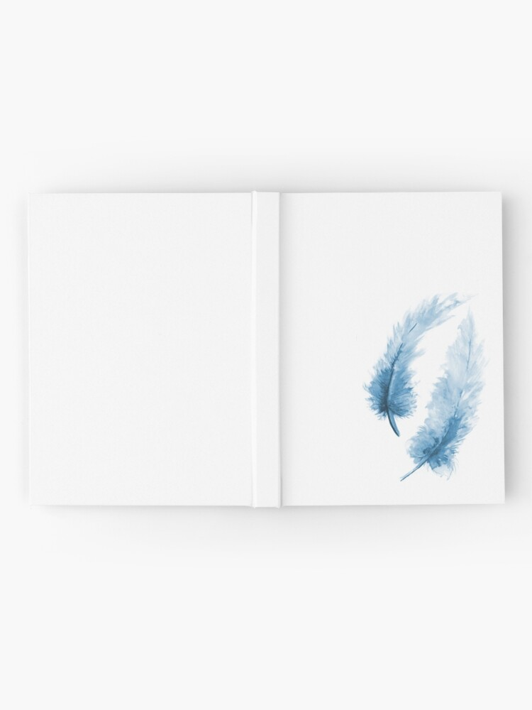 Alternate view of Blue feathers Hardcover Journal