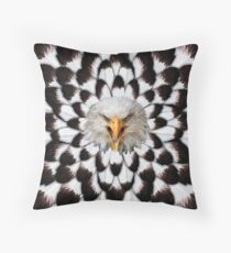 Eagle and feather Pattern Throw Pillow