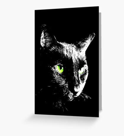 Black Cat 4 - Card Greeting Card