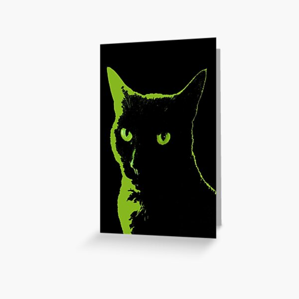Black Cat 5 - Card Greeting Card