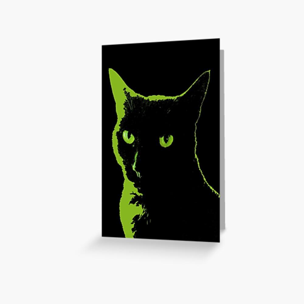 Black Cat 5 - Card Greeting Card