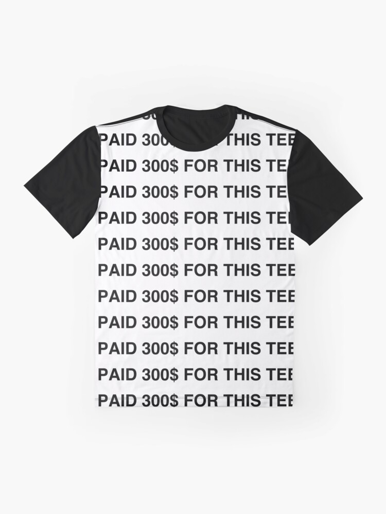 Alternate view of 300$ RICH TEE Graphic T-Shirt