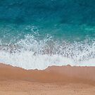abstract minimalist nautical seafoam turquoise ocean by lfang77