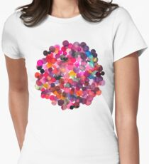 Watercolor dots Women's Fitted T-Shirt