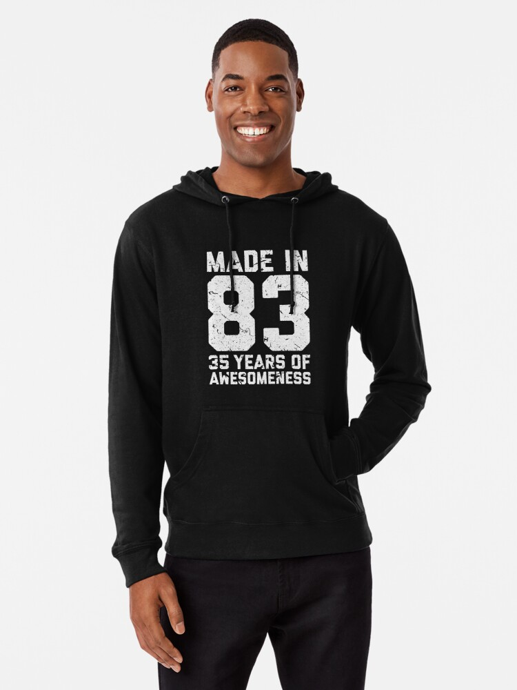 35th Birthday Gift Adult Age 35 Year Old Men Women Lightweight Hoodie Front