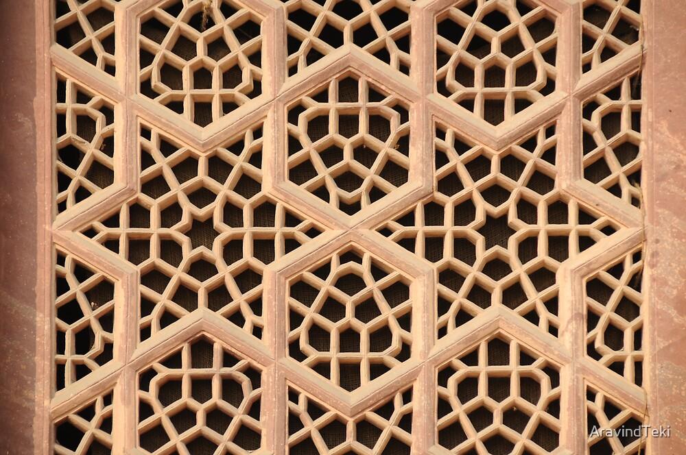 Old Islamic Stone Grill  by AravindTeki