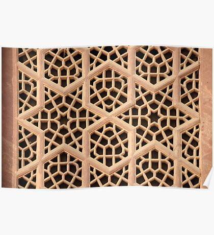Old Islamic Stone Grill  Poster