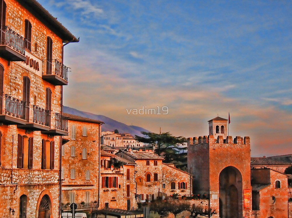 Sunset. Assisi, Italy by vadim19