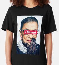 Notorious RBG - I Dissent Slim Fit T-Shirt