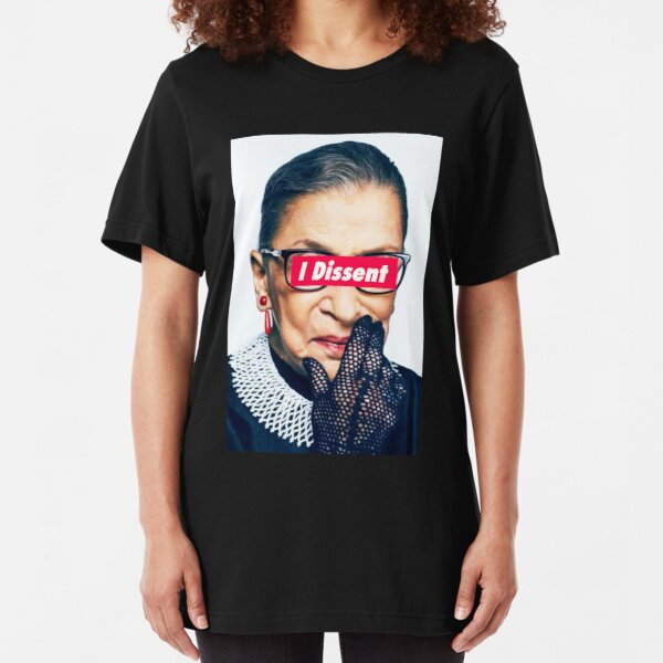 Notorious RBG - I Dissent Slim Fit T-Shirt