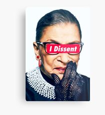 Notorious RBG - I Dissent Metal Print