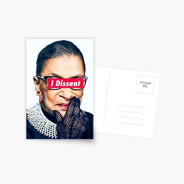Notorious RBG - I Dissent Postcard