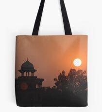 Sunset at Taj Mahal Tote Bag