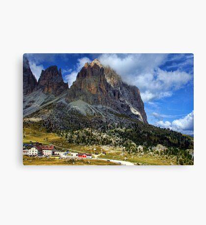 Sassolungo Scale! The Dolomites Canvas Print