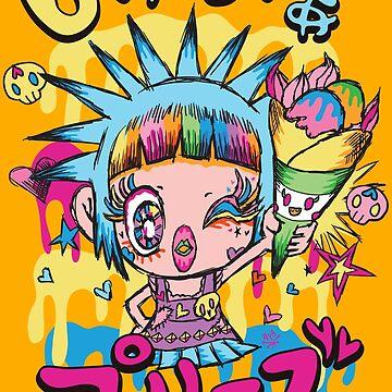 Kawaii Ice Cream Crape Punk Girl Sugar Please by AyaMasuda