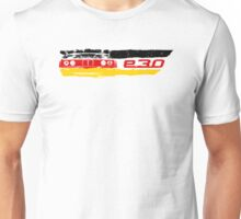 Grungy E30 a front end with E30 badge in german flag colors Unisex T-Shirt