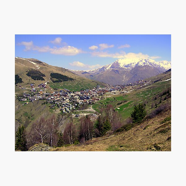 Les Deux Alpes in spring Photographic Print