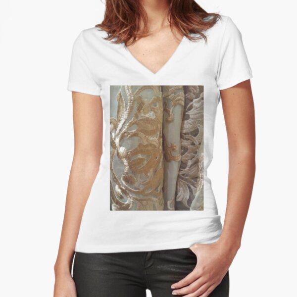 #Dark, #Flower, #DarkFlower, #8st, #NewYork, #Manhattan, #subway Fitted V-Neck T-Shirt