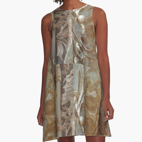 #Dark, #Flower, #DarkFlower, #8st, #NewYork, #Manhattan, #subway A-Line Dress