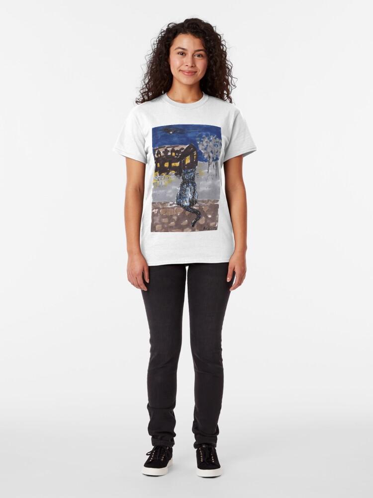 Alternate view of Night cat Classic T-Shirt