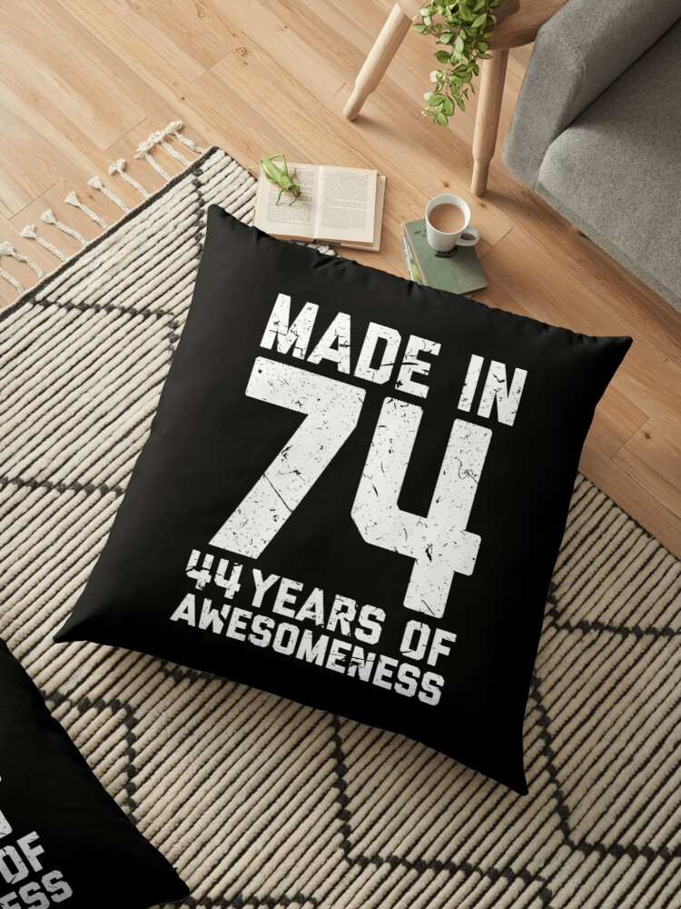 44th Birthday Gift Adult Age 44 Year Old Men Women Floor Pillows By