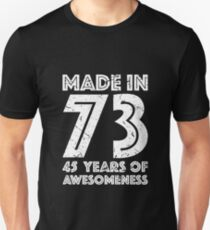 45th Birthday Gift Adult Age 45 Year Old Men Women Unisex T Shirt