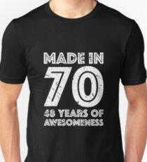 48th Birthday Gift Adult Age 48 Year Old Men Women Unisex T Shirt