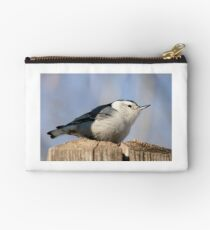 White Breasted Nuthatch Studio Pouch