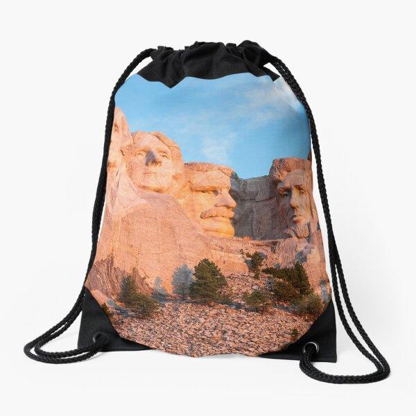 Mount Rushmore National Memorial - Black Hills, South Dakota Drawstring Bag