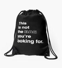 Mochila de cuerdas esta no es la bolsa que estás buscando.