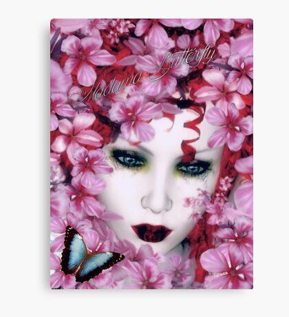 Madama Butterfly Art Card Canvas Print