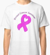 Breast Cancer Heart Survivor Classic T-Shirt