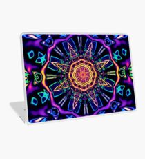 """Return to Awe"" - Psychedelic Abstract Mandala  Laptop Skin"