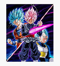 Goku Black VS Saiyans Photographic Print