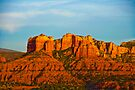 Dusk Over the Sedona Valley by photosbyflood