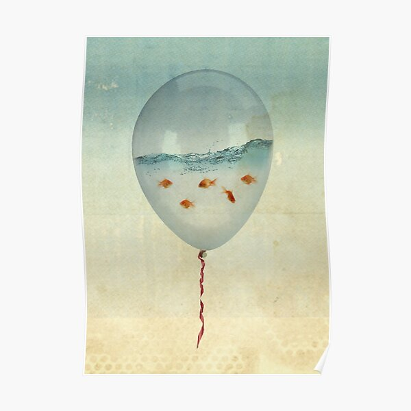balloon fish Poster