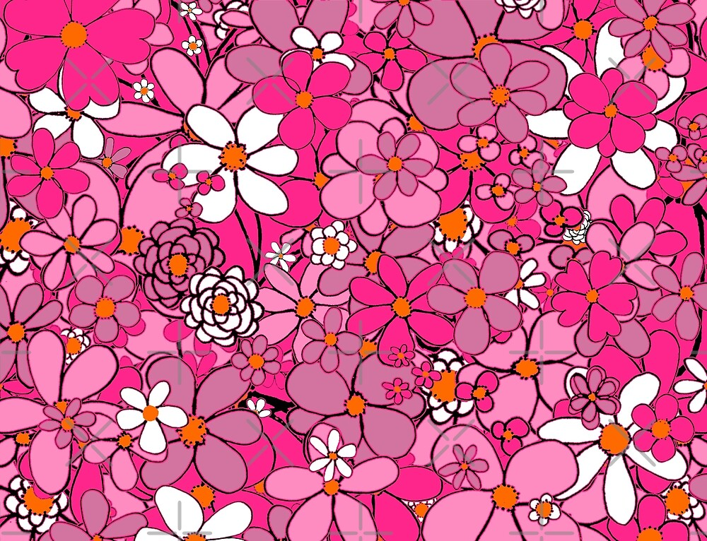 Pink Flowers Galore by Clare Wuellner